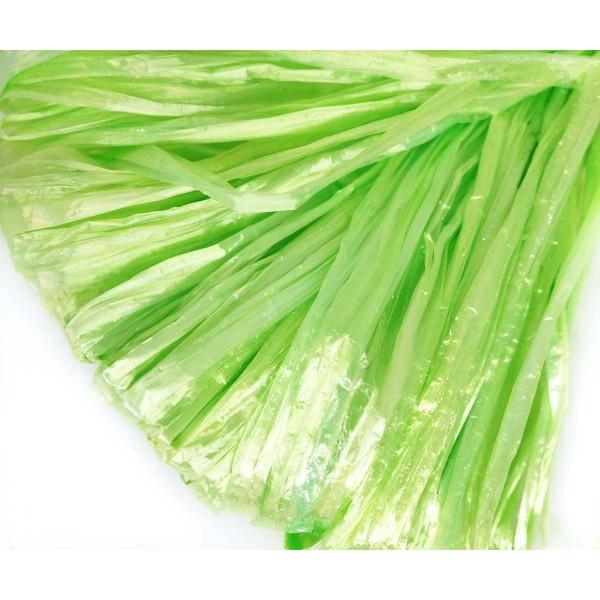 5m Lumière de Perle Verte Plat Raphia Bande en Nylon de Broderie à la Main en Fil d'Orfèvrerie Lunev - Photo n°1