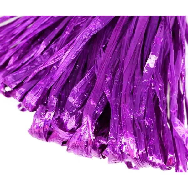 5m Violet Perle Plate Raphia Bande en Nylon de Broderie à la Main en Fil d'Orfèvrerie Luneville Tamb - Photo n°1