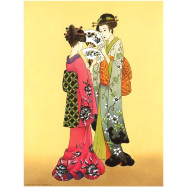 Image 3D - OR 32 - 24x30 - chinoises et éventails - Photo n°1