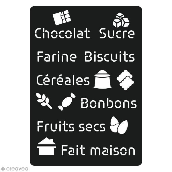 Pochoir en carton Cuisine - Sucré - 16 motifs - Photo n°1