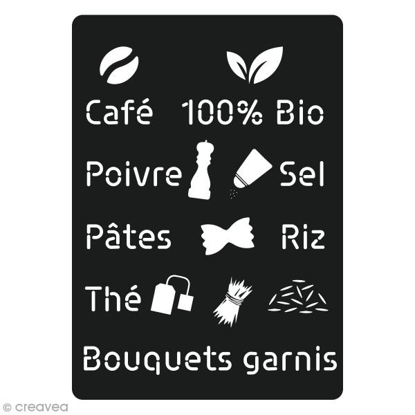 Pochoir en carton Cuisine - Salé - 16 motifs - Photo n°1