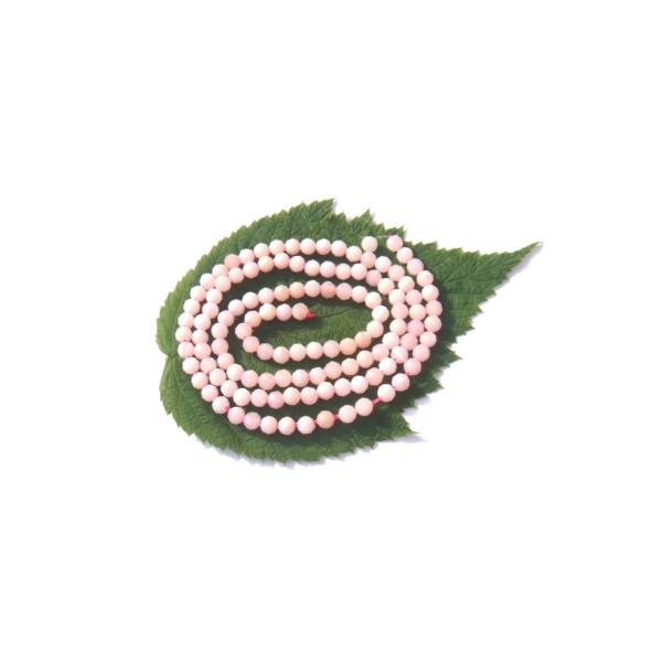 Opale Rose très pâle multicolore : 20 MICRO perles facettées 3 MM de diamètre - Photo n°1