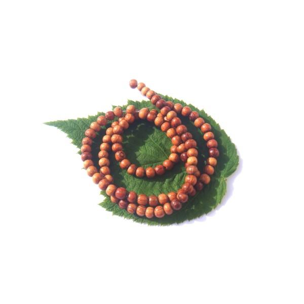 Bois de Bayong multicolore : 20 perles irrégulières 3.5 MM de diamètre environ - Photo n°1