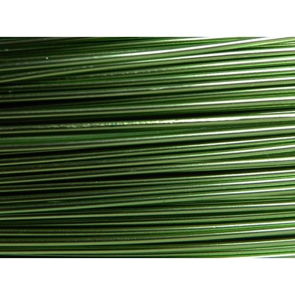 5 Mètres fil aluminium vert foncé 1mm Oasis ® - Photo n°1