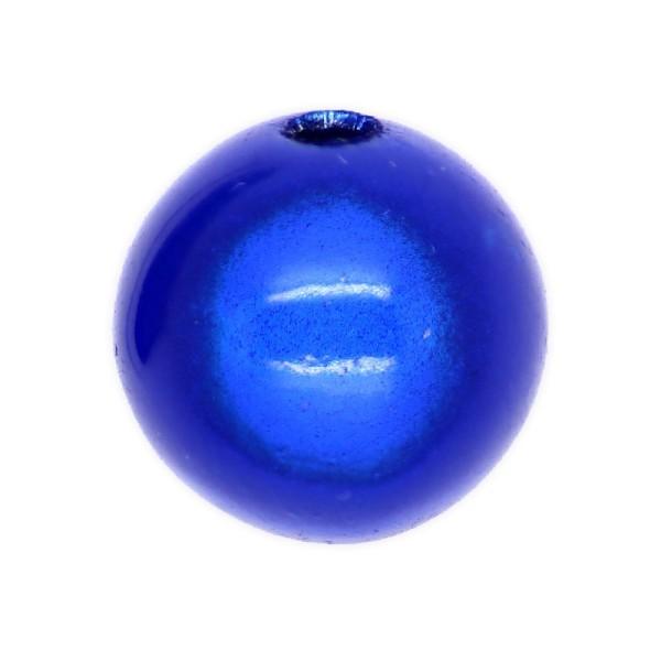 5 Perles magiques 16 mm Bleu Royal Grade A - Photo n°1