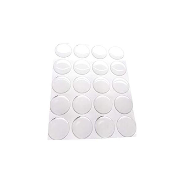 S1161866 PAX de 77 cabochons resine epoxy ROND 20mm sticker autocollant epoxy transparent - Photo n°1