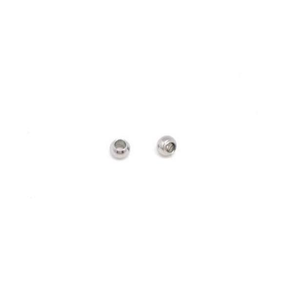 30 Perles Intercalaire Ronde 3mm En Acier Inoxydable Argenté Pour Cordon De 1mm - Photo n°2