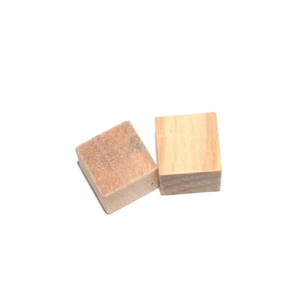 Cube en bois plein de présentation (sans trou) 2x2x2 cm - Photo n°1