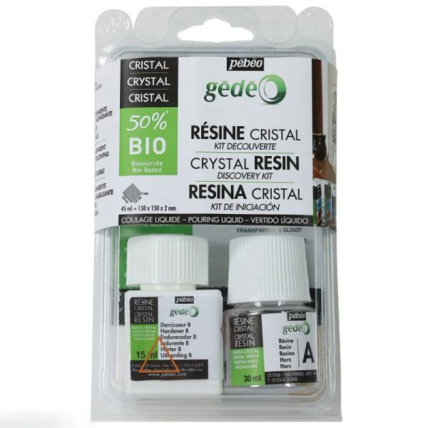 Kit découverte résine cristal 50 % Bio - 45 ml - Photo n°1