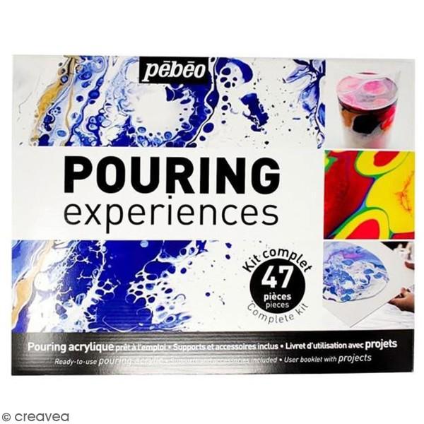Kit peinture Pebeo - Pouring expériences - 47 pcs - Photo n°1