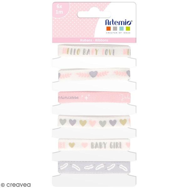 Rubans Artemio - Baby Girl - 1 cm x 1 m - 6 pcs - Photo n°1