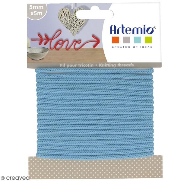 Fil de tricotin Artemio - Bleu ciel - 5 mm x 5 m - Photo n°1