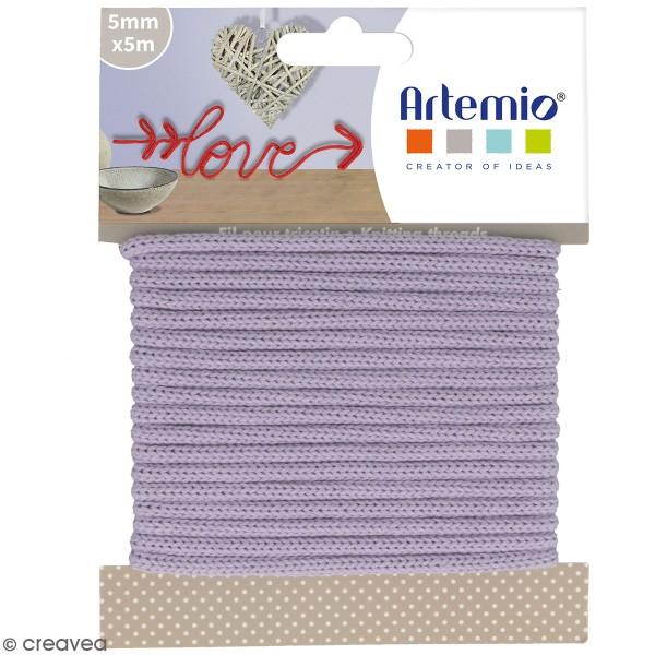 Fil de tricotin Artemio - Lavande - 5 mm x 5 m - Photo n°1