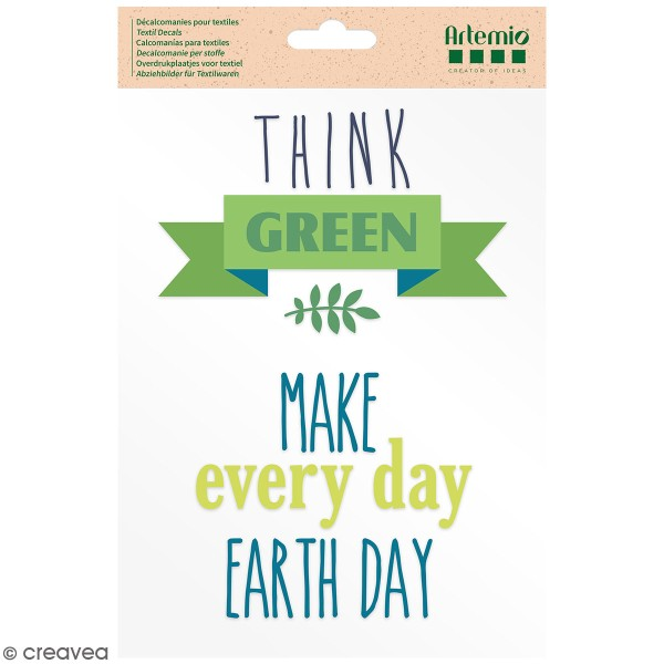 Transfert thermocollant A5 Artemio - Think Green - Photo n°1