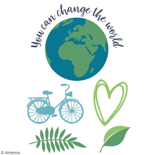 Transfert thermocollant A5 Artemio - Save your planet - Photo n°2