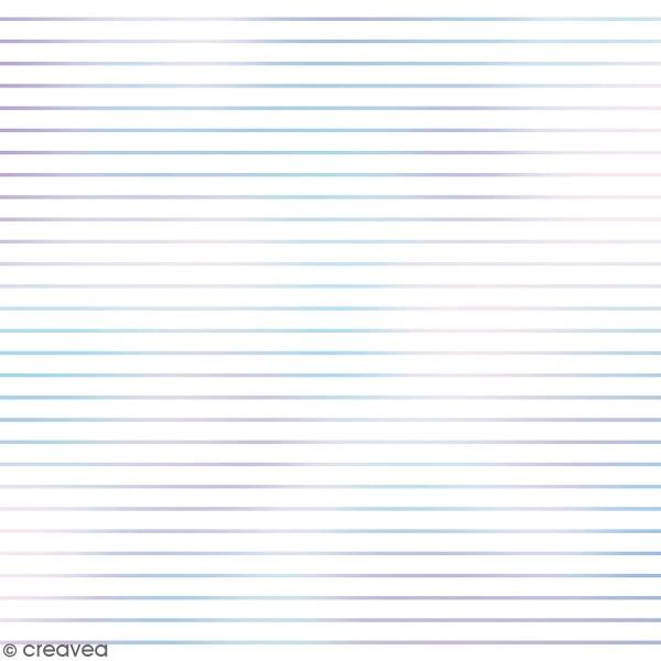 Feuille Calque à motifs - Artemio Deep Sea - Lignes Holographiques - 30,5 x 30,5 cm - 90 gr - Photo n°1