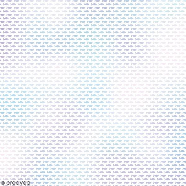 Feuille Calque à motifs - Artemio Deep Sea - Poissons Holographiques - 30,5 x 30,5 cm - 90 gr - Photo n°1