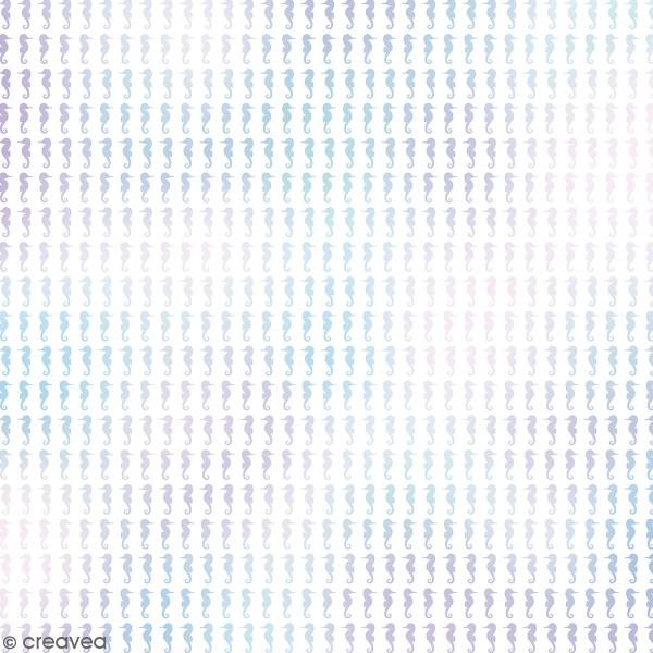 Feuille Calque à motifs - Artemio Deep Sea - Hippocampes Holographiques - 30,5 x 30,5 cm - 90 gr - Photo n°1