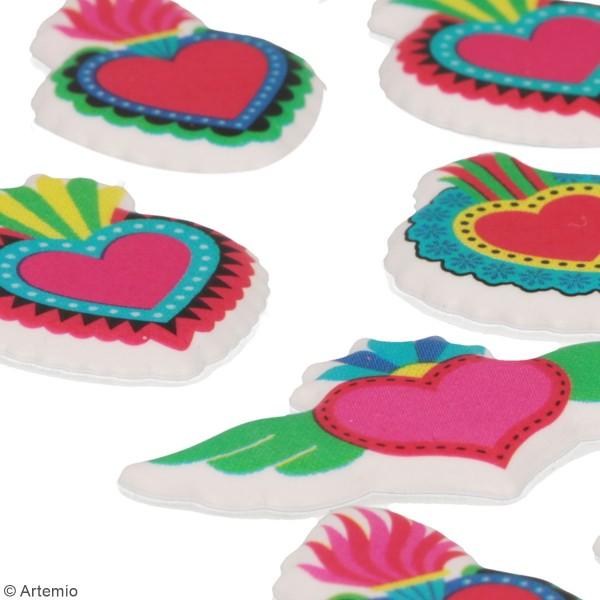 Stickers puffies Viva la Vida Coeur - 14 autocollants - Photo n°2