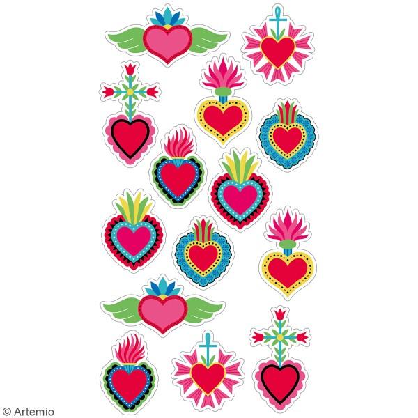 Stickers puffies Viva la Vida Coeur - 14 autocollants - Photo n°3