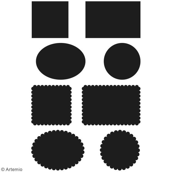 Dies Artemio Cadres - 3,2 à 5,2 cm - 8 pcs - Photo n°2