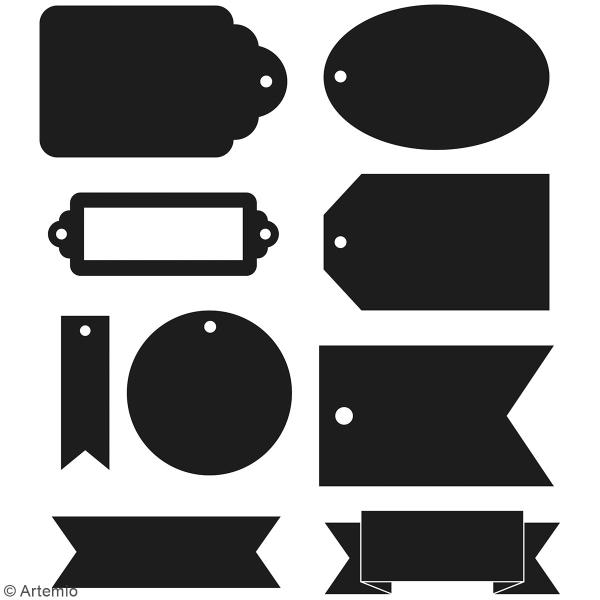 Dies Artemio Étiquettes - 4,6 à 7,3 cm - 9 pcs - Photo n°2