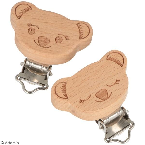 Attaches tétines en bois Atermio - Koala - 2 pcs - Photo n°2