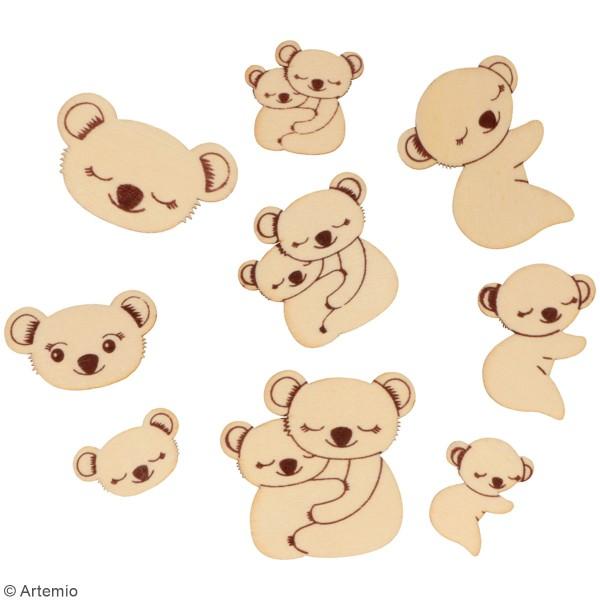 Petites formes en bois à décorer - Koala - Assortiment de 24 pcs - Photo n°2