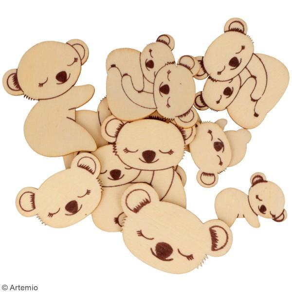 Petites formes en bois à décorer - Koala - Assortiment de 24 pcs - Photo n°3