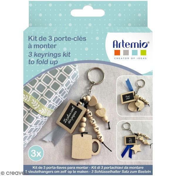Kit DIY porte-clés à message - Papa - 3 pcs - Photo n°1