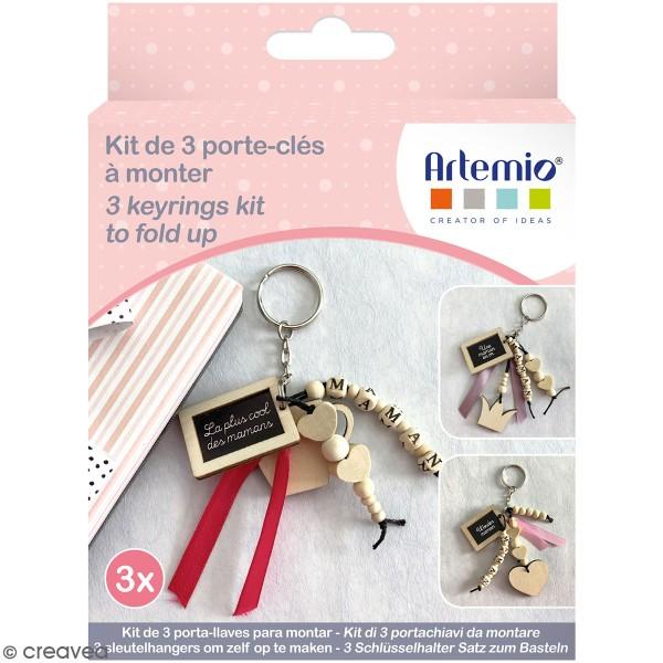 Kit DIY porte-clés à message - Maman - 3 pcs - Photo n°1