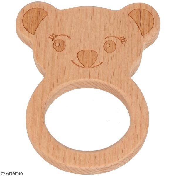 Anneau de dentition en bois - Tête de koala - Photo n°2