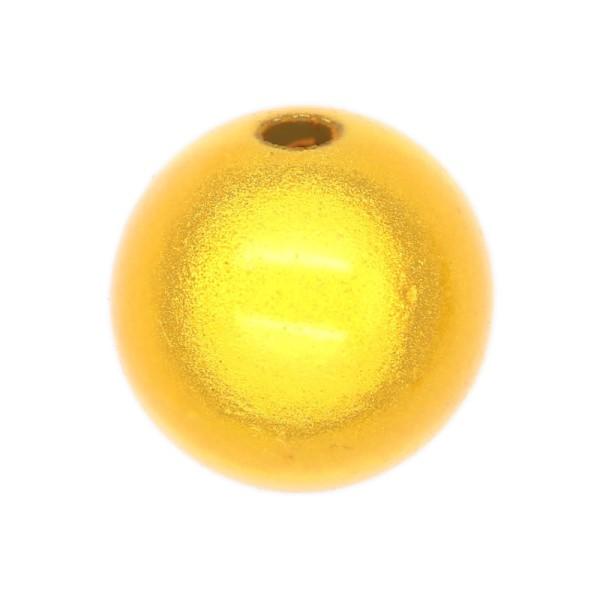 5 Perles magiques 14 mm Jaune Grade A - Photo n°1