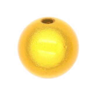 5 Perles magiques 14 mm Jaune Grade A