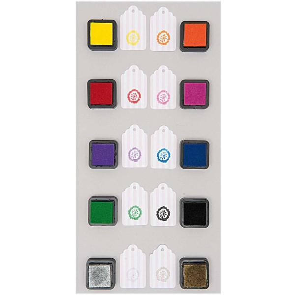 10pcs Stamp Pad Set Carré Éponge Mini-Tampon encreur Craft Doigt Timbre Pour le Bricolage Pigment Sc - Photo n°3