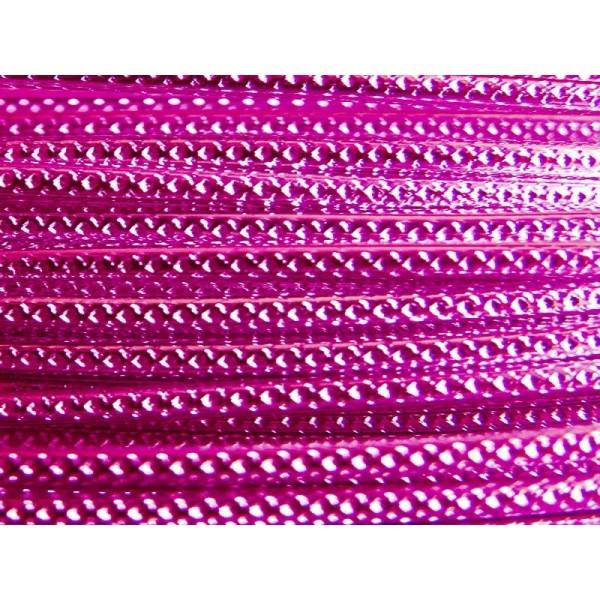 5 Mètres fil aluminium strié rose vif 2mm Oasis ® - Photo n°1