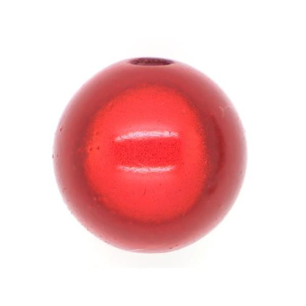 5 Perles magiques 16 mm Rouge Grade A - Photo n°1