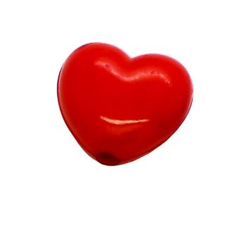 20 Perles Coeur Rouge 11 mm