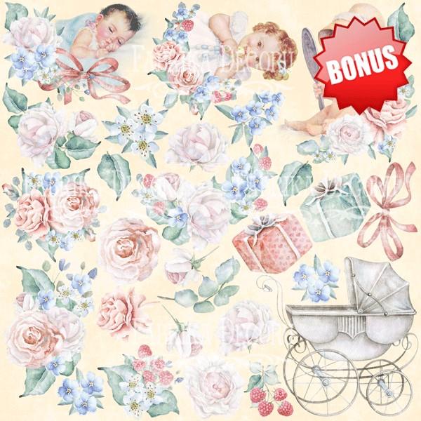 10 papiers scrapbooking 20 x 20 cm FABRIKA DECORU SHABBY BABY GIRL - Photo n°2