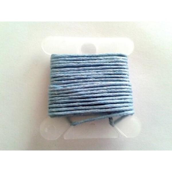 3M fil coton ciré bleu gris 1mm - macramé , shamballa ... - Photo n°1