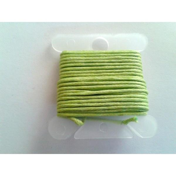 3M fil coton ciré vert pomme 1mm - macramé , shamballa ... - Photo n°1