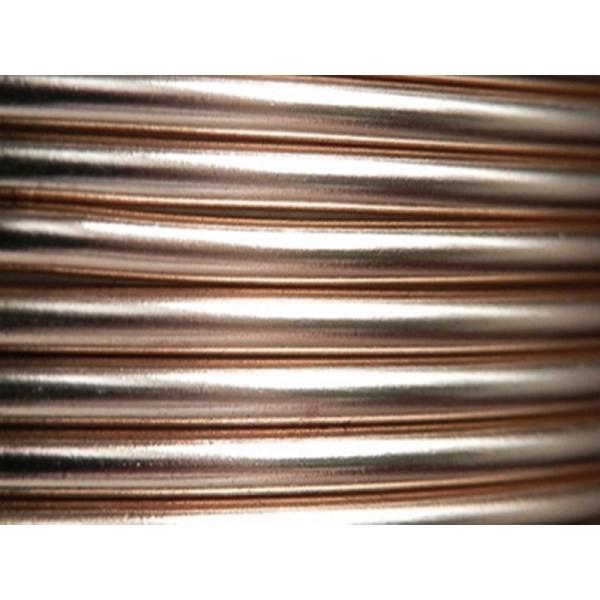 2 Mètres fil aluminium rose ancien 4mm Oasis ® - Photo n°1