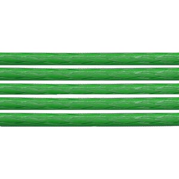 10 Mètres de coton ciré Vert 1 mm - Photo n°1