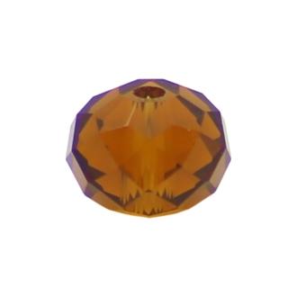 50 Perles en verre Abacus 6mm pérou transparent