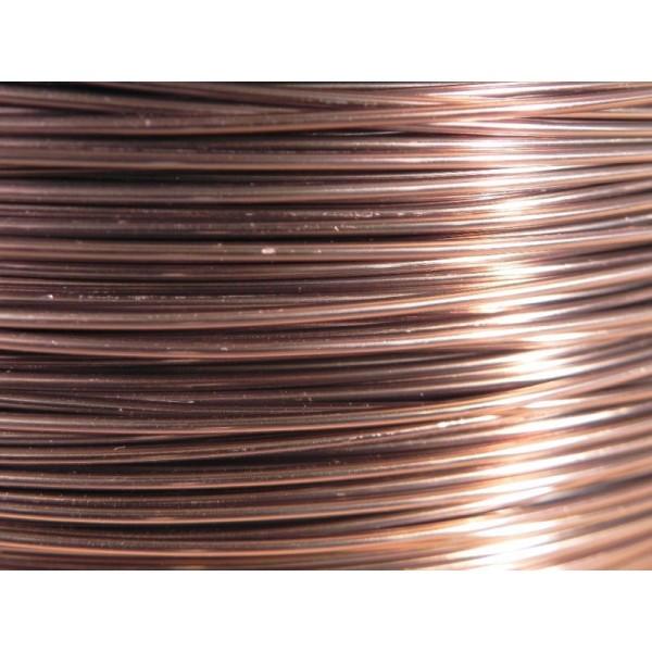 Bobine 235 M fil aluminium rose ancien 1mm - Photo n°1