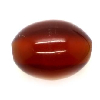 10 x Perle Résine Ovale 9mm Marron