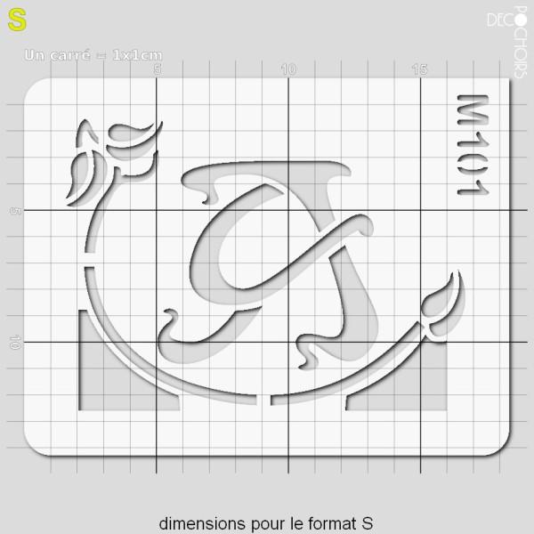 Pochoirs lettrine et monogramme art nouveau: A - Photo n°3