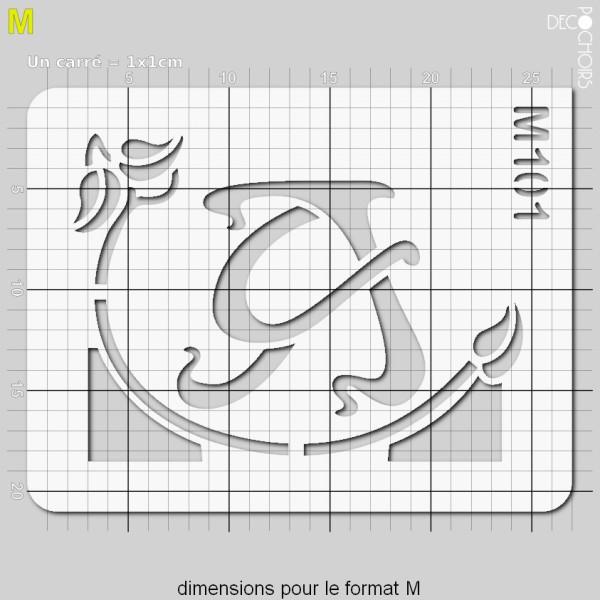 Pochoirs lettrine et monogramme art nouveau: A - Photo n°4