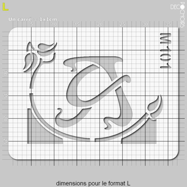 Pochoirs lettrine et monogramme art nouveau: A - Photo n°5