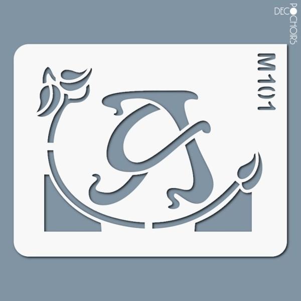 Pochoirs lettrine et monogramme art nouveau: A - Photo n°1